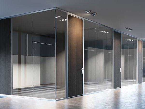 Frezza K82 Raum-in-Raumsystem mit Glaswänden und Holz