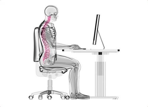 Richtige Sitzposition am Schreibtisch