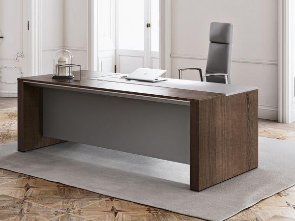 Frezza ONO Luxus- Schreibtisch mit Lederauflage