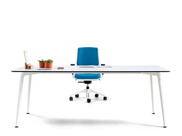 Actiu Schreibtisch TWIST mit Tischplatte in Melamin | Büro ...