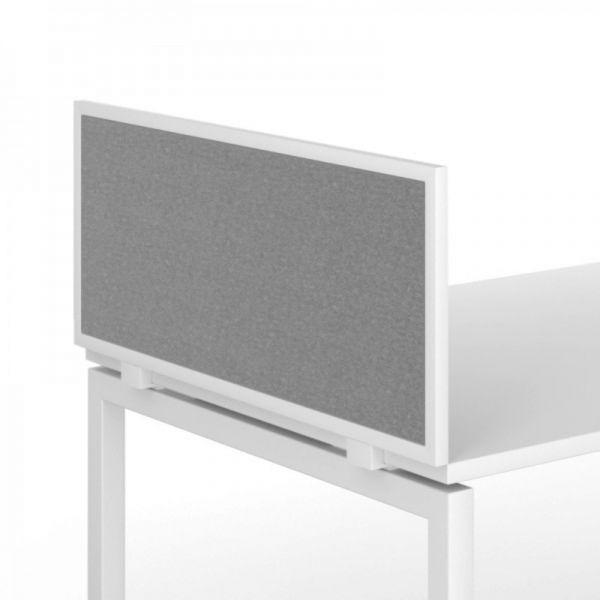 Tischtrennwand FLEX für Tischseite mit Metallrahmen und Innenteil in Stoff