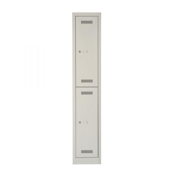 Bisley Mono Bloc Gaderobenschrank mit 2 Türen je 1x Hutablage und 3x Kleiderhäken