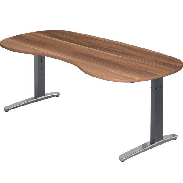 Schreibtisch ZD-Serie mit C-Fuß höhenverstellbar 65 - 58 cm
