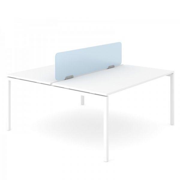 PLEXI Tischtrennwand für Bench aus Plexiglas