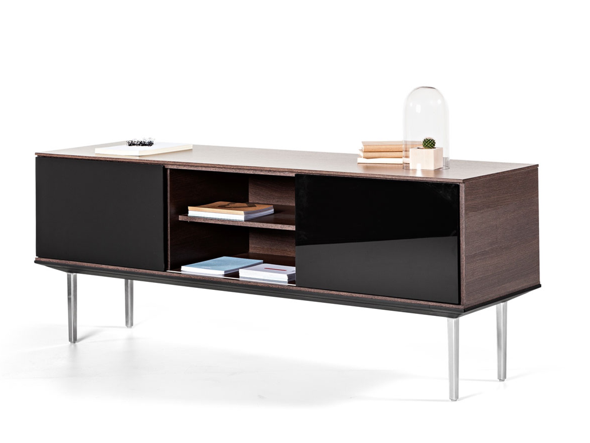 actiu longo lna12 sideboard 180x50 cm mit glast ren sideboards b roschr nke alle. Black Bedroom Furniture Sets. Home Design Ideas