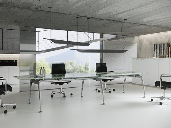 frezza Tiper Konferenztisch 320x120 cm mit Glasplatte