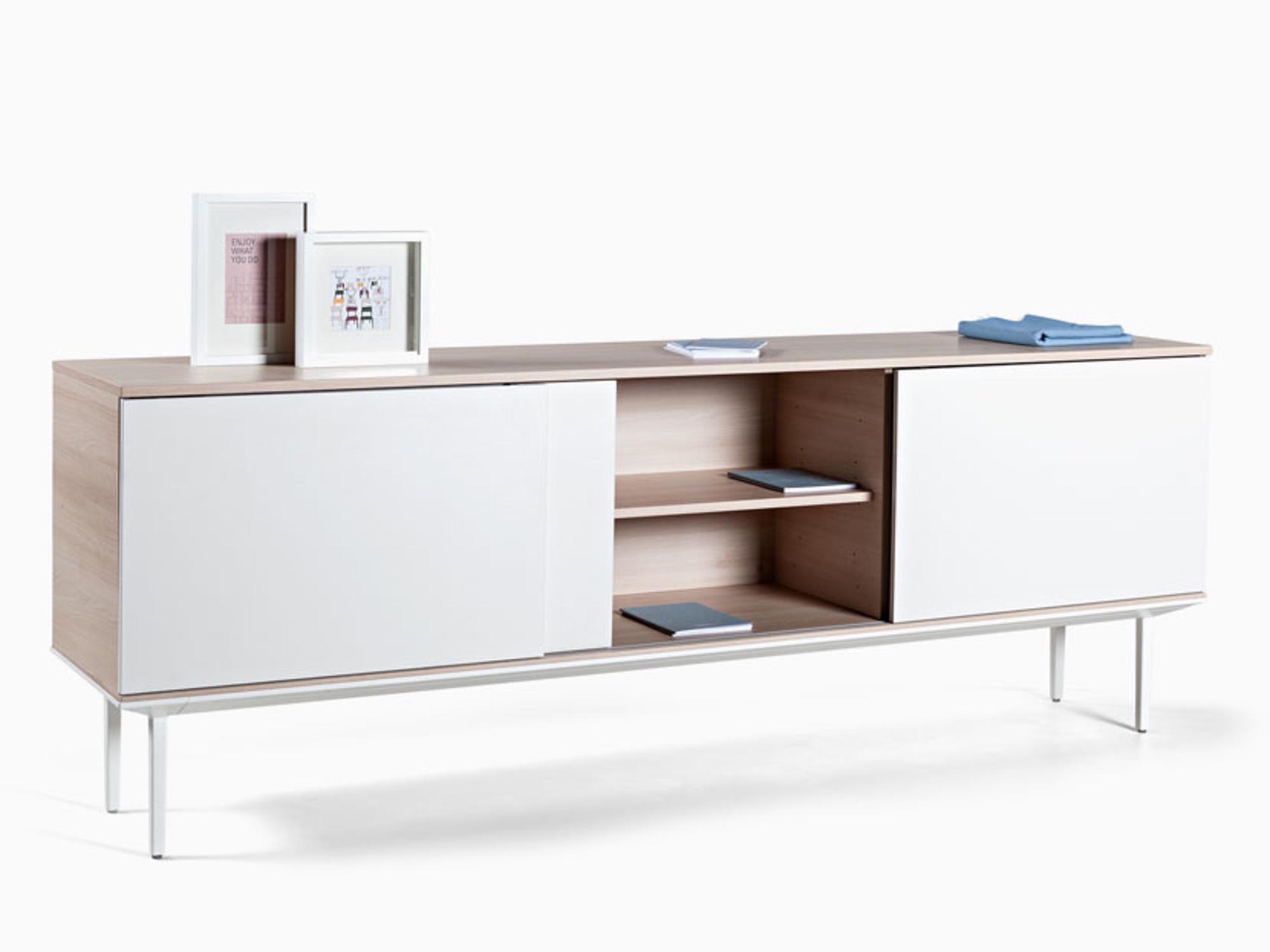actiu longo lna22 sideboard eiche lime mit 3 schiebet ren in melamin sideboards b roschr nke. Black Bedroom Furniture Sets. Home Design Ideas