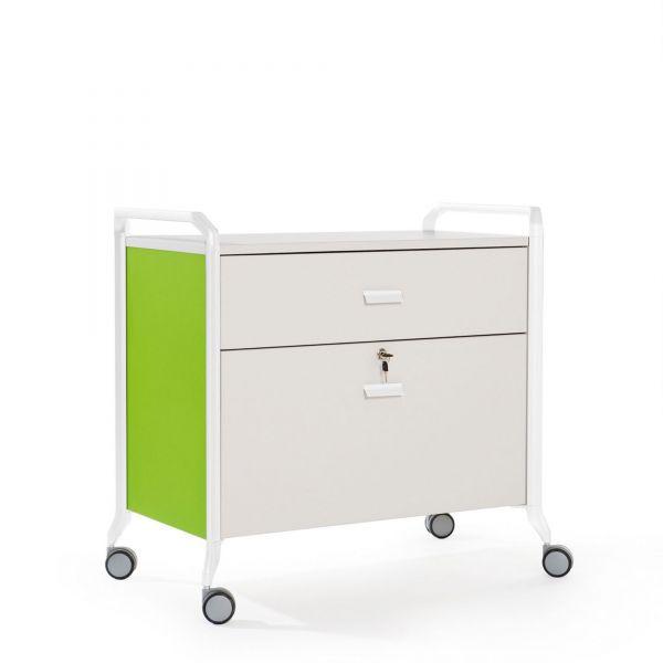 Actiu Ontime 10 Bürowagen mit Schublade und Hängeregistraturschublade