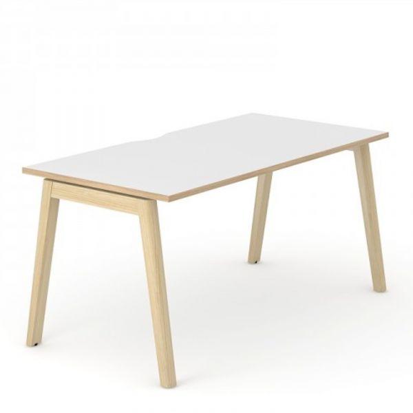 Schreibtisch Simple-Wood mit Melamin Tischplatte und Esche natur