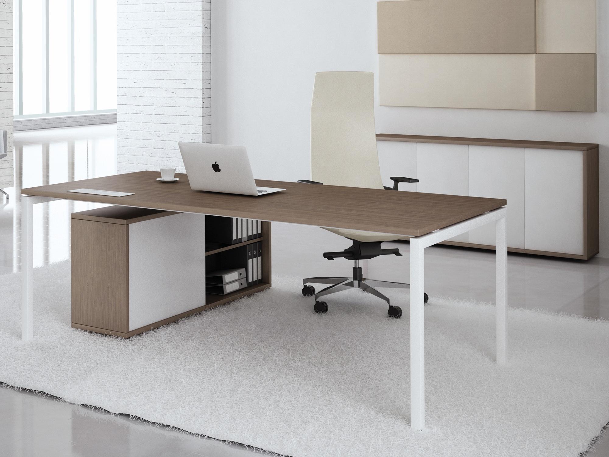 Schreibtisch flex pro in 180 200x100 cm mit 4 fuss gestell for Schreibtisch 200x100