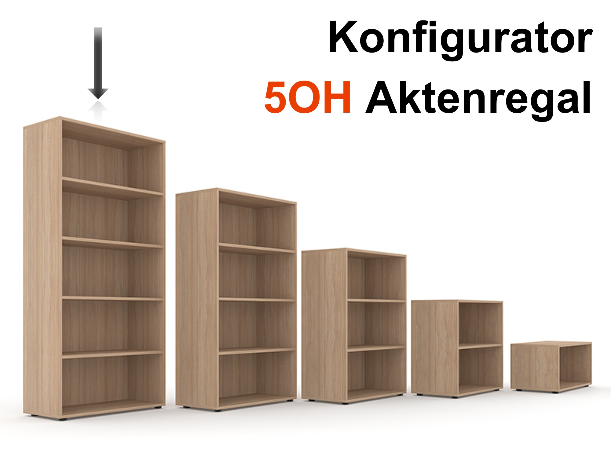 aktenregal selection 5oh konfigurator aktenregale b roregale alle kategorien b rom bel. Black Bedroom Furniture Sets. Home Design Ideas