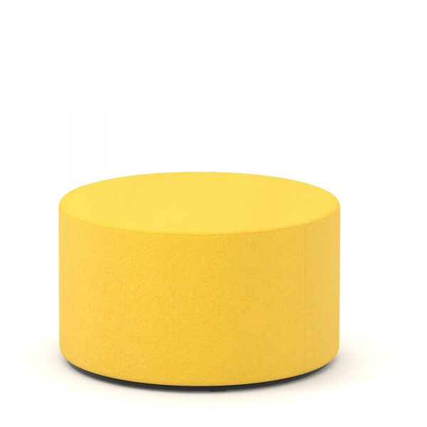 Sitzwürfel rund D60cm H35cm in Wolle Velito