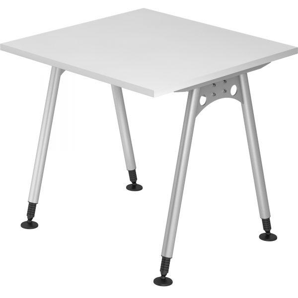 Schreibtisch C-Serie mit 4-Fuß höhenverstellbar 68 - 76 cm