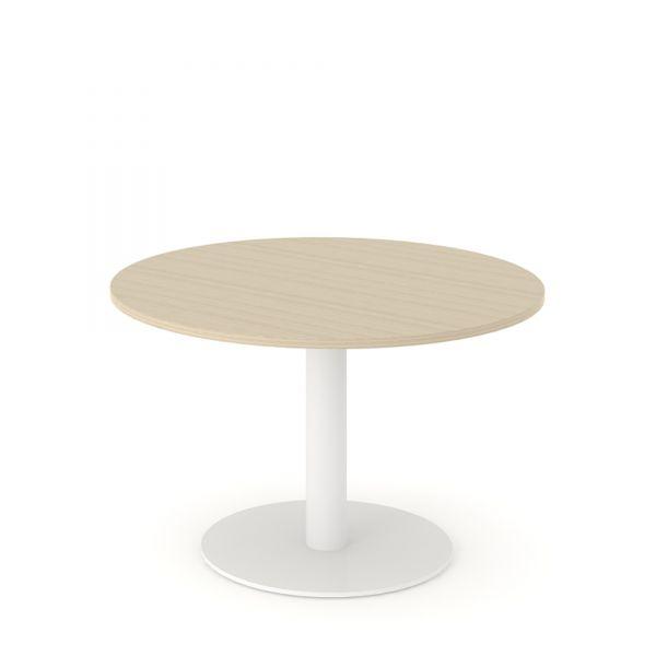 besprechungstisch flap in 120 140 cm rund mit s ulengestell und tellerfu besprechungstische. Black Bedroom Furniture Sets. Home Design Ideas