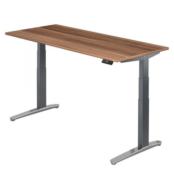 Schreibtisch ZDJO - elektr. höhenverstellbar 65-130 cm mit Hubsäule rechteckig und Tischplatte