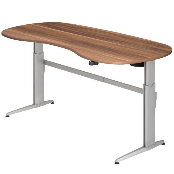 Schreibtisch ZG - elektr. höhenverstellbar 72-119 cm mit Hubsäule rechteckig und Tischplatte