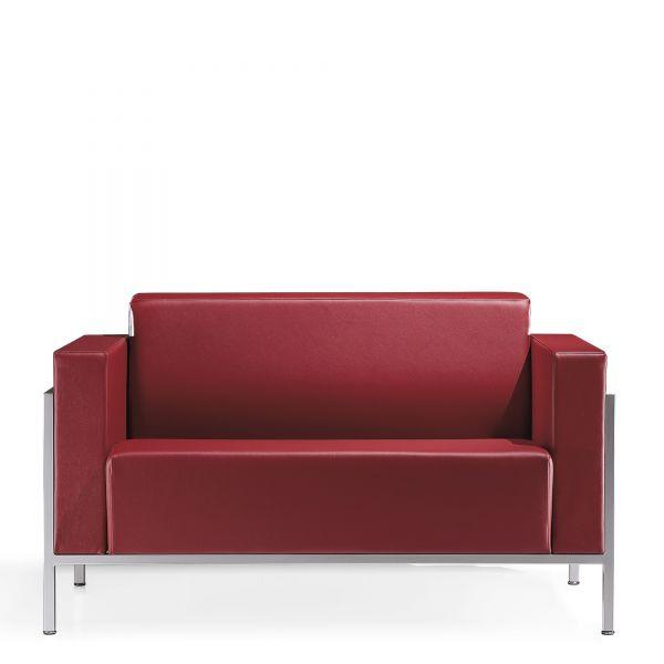 Kastel Kursal Sofa 2-Sitzer mit Metallrahmen alufarbig