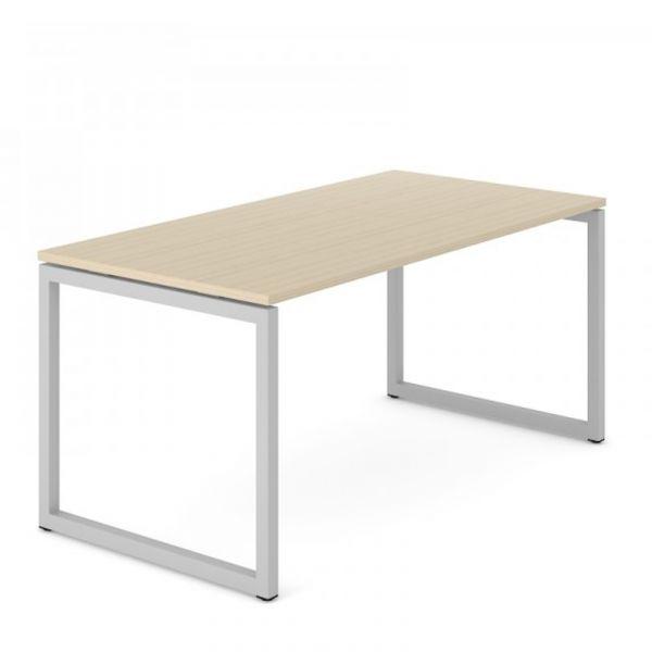 Schreibtisch FLEX O mit O-Beine Traversengestell