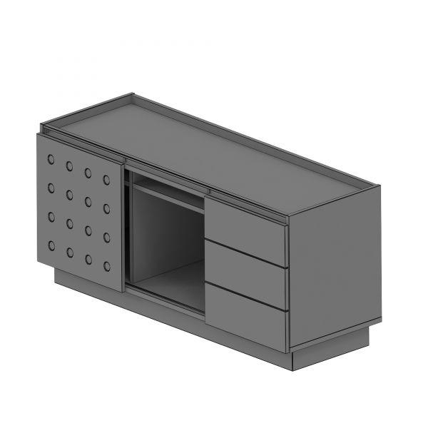 Balma Plus P4-304-M Sideboard mit 1 Schiebetür + 1 Fach + 3 Schubladen in 135x50x55 BxTxH