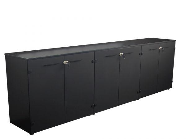 frezza Passepartout Sideboard 270x45x74,5 cm mit Glastüren