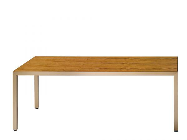 Archiutti Fattore Alpha Tisch 180/200x90 cm in Furnier Nussbaum und Gestell Kupfer