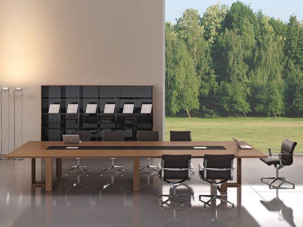 Bralco Arche Konferenztisch 480x160 in Echtholz Furnier