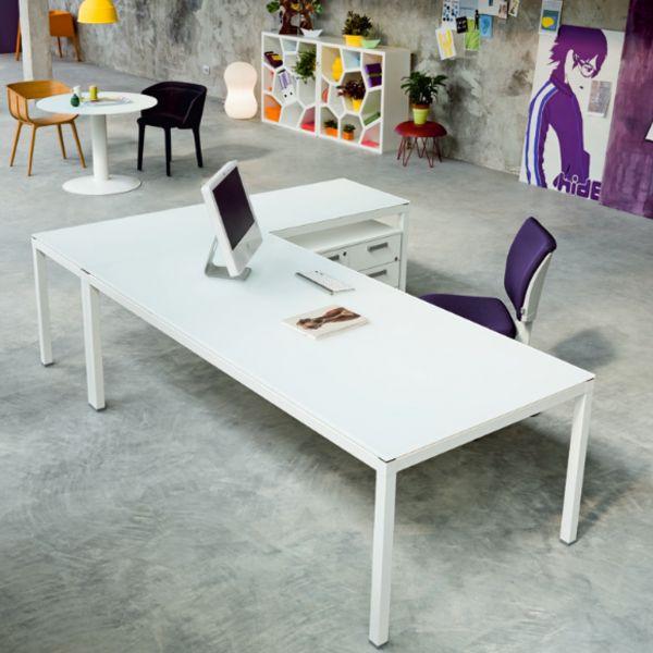 frezza LINK Schreibtisch in L-Form mit Schreibtisch mit Anbautisch höhenverstellbar