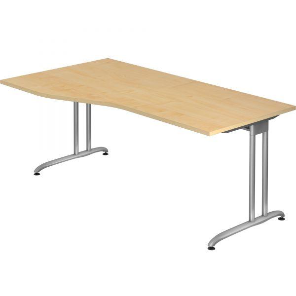 Schreibtisch D-Serie mit C-Fuß