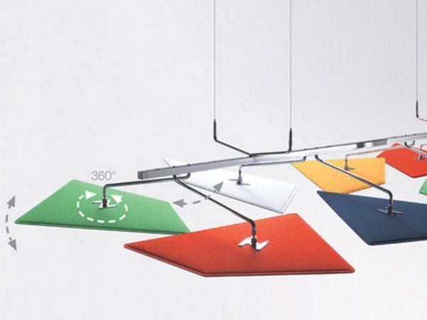 Caimi Brevetti Flap flexible Deckenakustik mit flexible Panelle