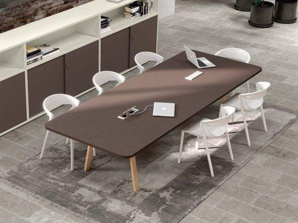 IDO Wood Konferenztisch mit Eiche Tischbeinen