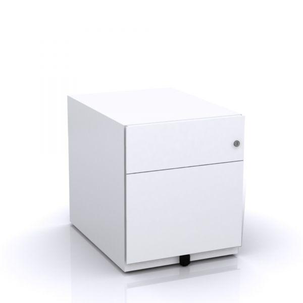 Bisley Note Rollcontainer mit 1 Hängeregister-,1 Universalschublade in 50x42x57 (HxBxT)