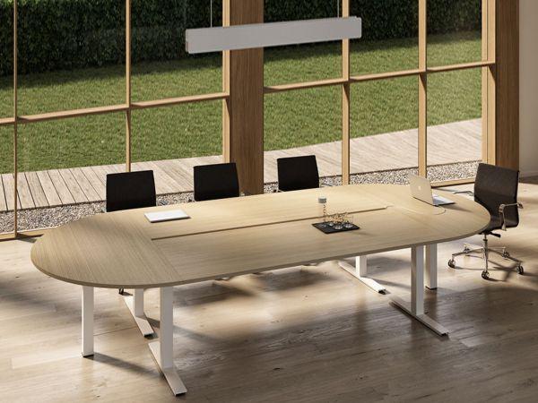 Bralco WINGLET Konferenztisch 364 x 164 cm in ovaler Tischform