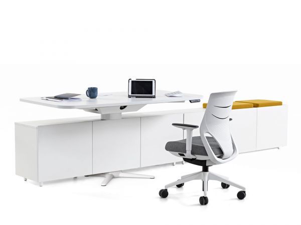 Actiu POWER Schreibtisch elektrisch höhenverstellbar mit Sideboard