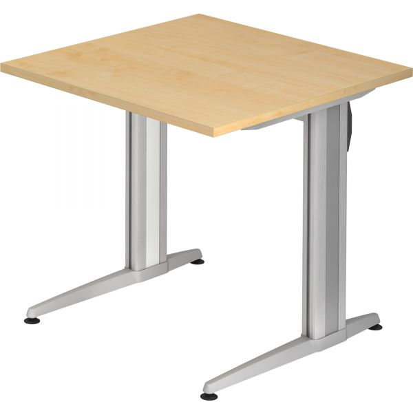 Schreibtisch ZU-Serie mit C-Fuß