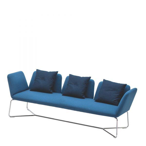 Noti Manta Loungesofa 3-Sitzer mit Metallgestell