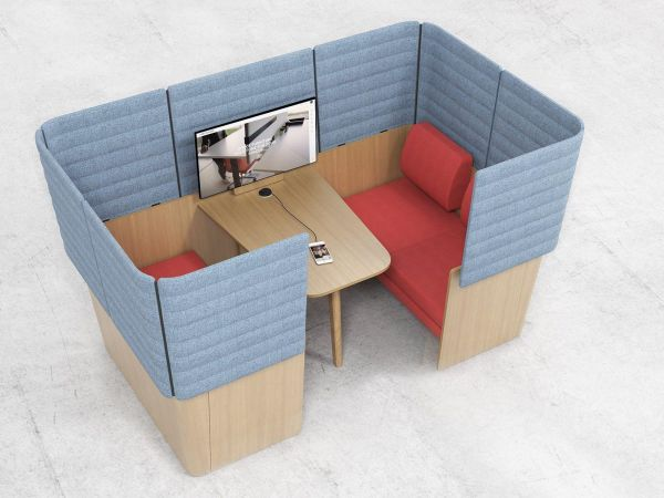 WOOD Meeting-Point Loungekabine für Besprechungen