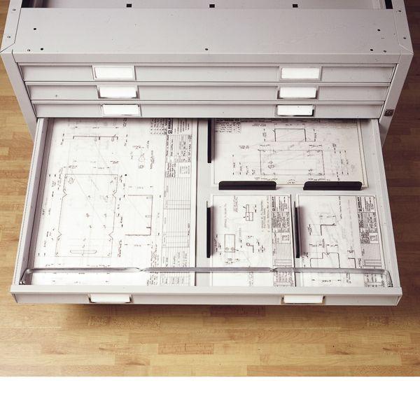 Bisley 470 Planschrank Aufbauset aus Stahl DIN A1