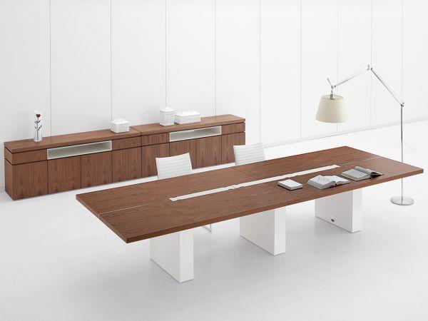 Archiutti Artu Konferenztisch 320/400/480 x 140 cm mit Tischplatte in Furnier