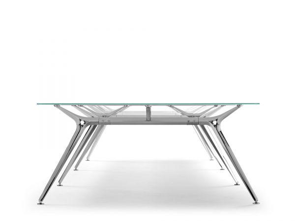 Actiu ARKITEK W58 Konferenztisch 241x160 cm mit Glasplatte