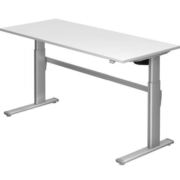 Schreibtisch ZO - elektr. höhenverstellbar 72-119 cm mit Hubsäule rechteckig und Tischplatte