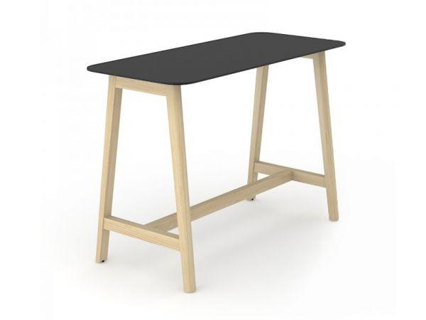 Stehtisch Simple Wood mit Tischplatte in HPL