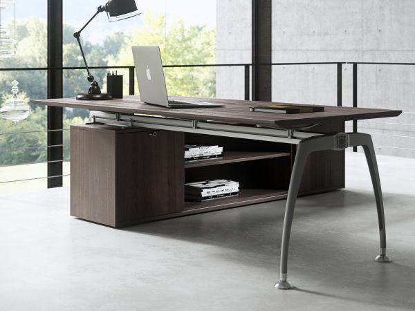 frezza Tiper Schreibtisch mit Sideboad in Furnier